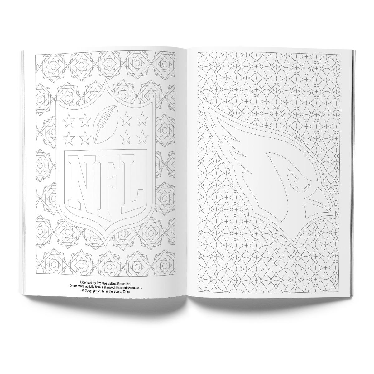 Arizona Cardinals Adult Coloring Book