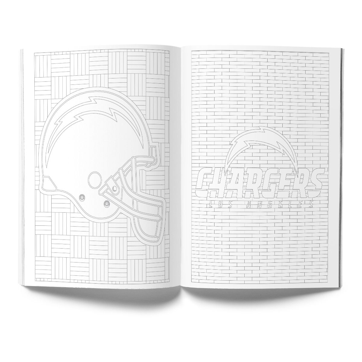 Los Angeles Chargers Adult Coloring Book