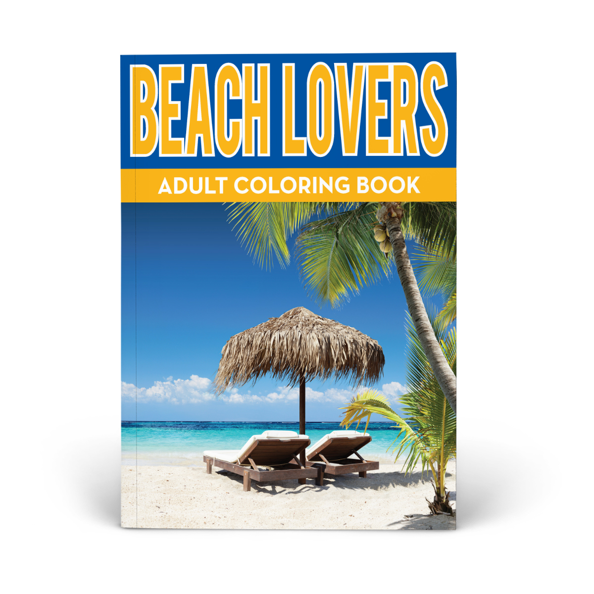 Let's Go to the Beach Adult Coloring Book