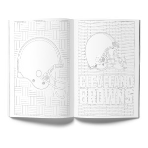 Cleveland Browns Adult Coloring Book