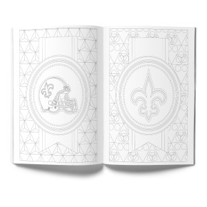 New Orleans Saints Adult Coloring Book