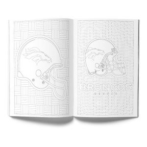 Denver Broncos Adult Coloring Book