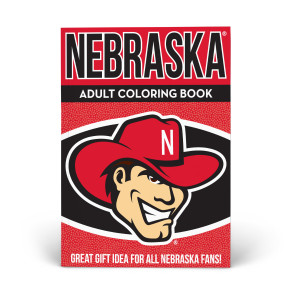 Nebraska Huskers Adult Coloring Book