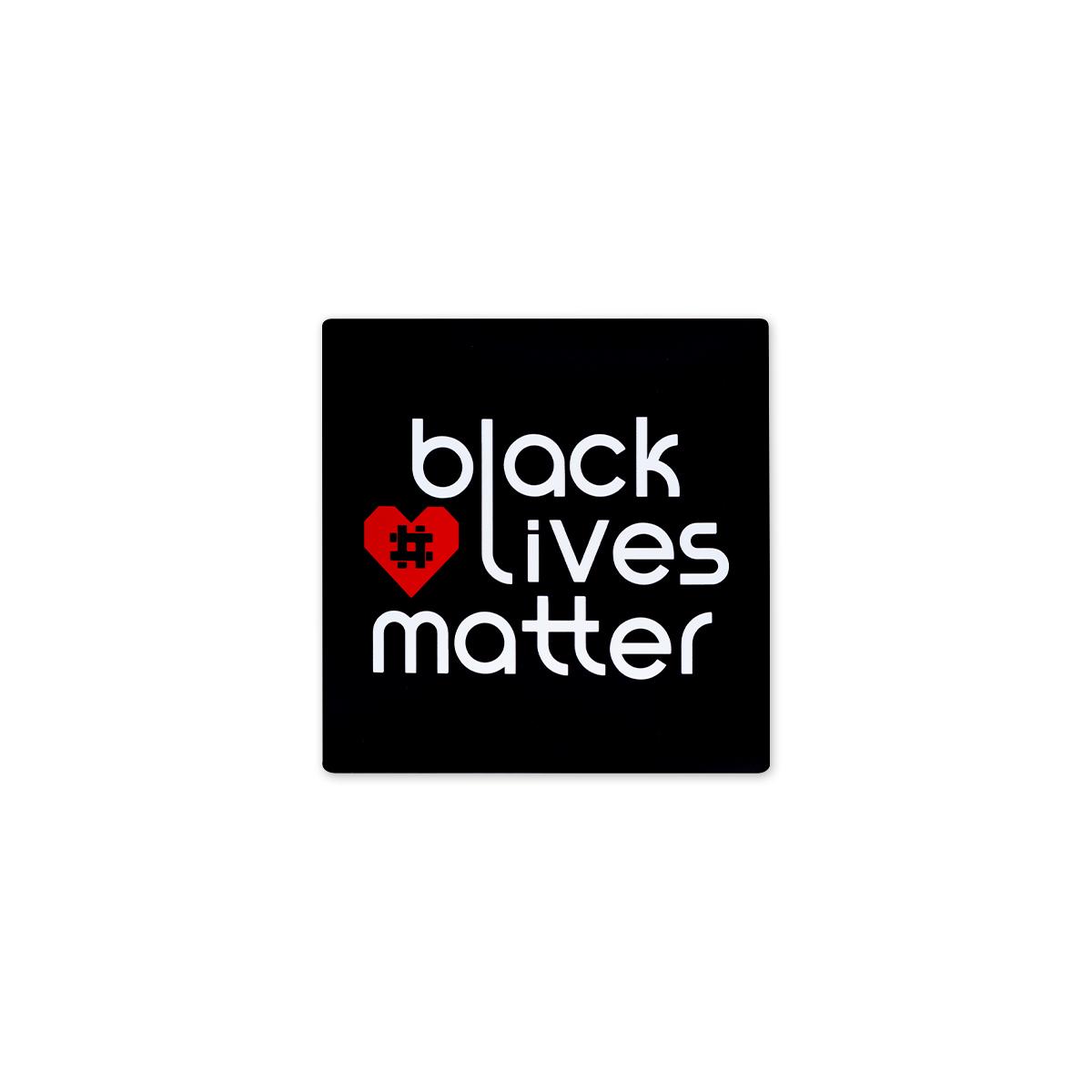 """BLM Hashtag Heart Magnet 2"""" x 2"""""""