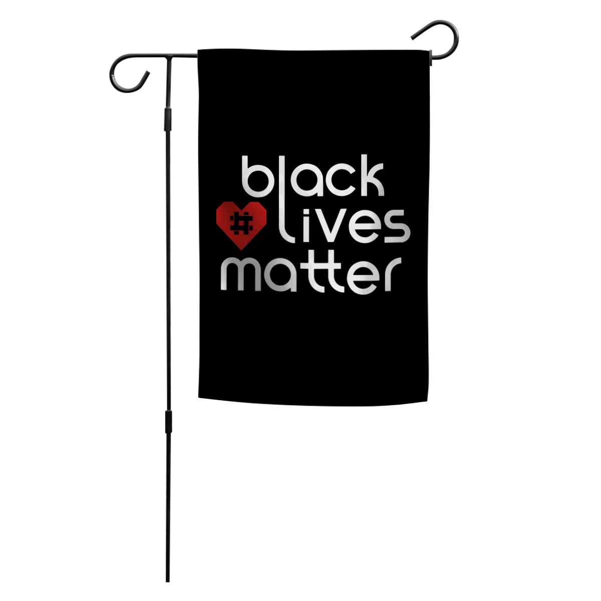 Official Red Heart Hashtag Garden Flag