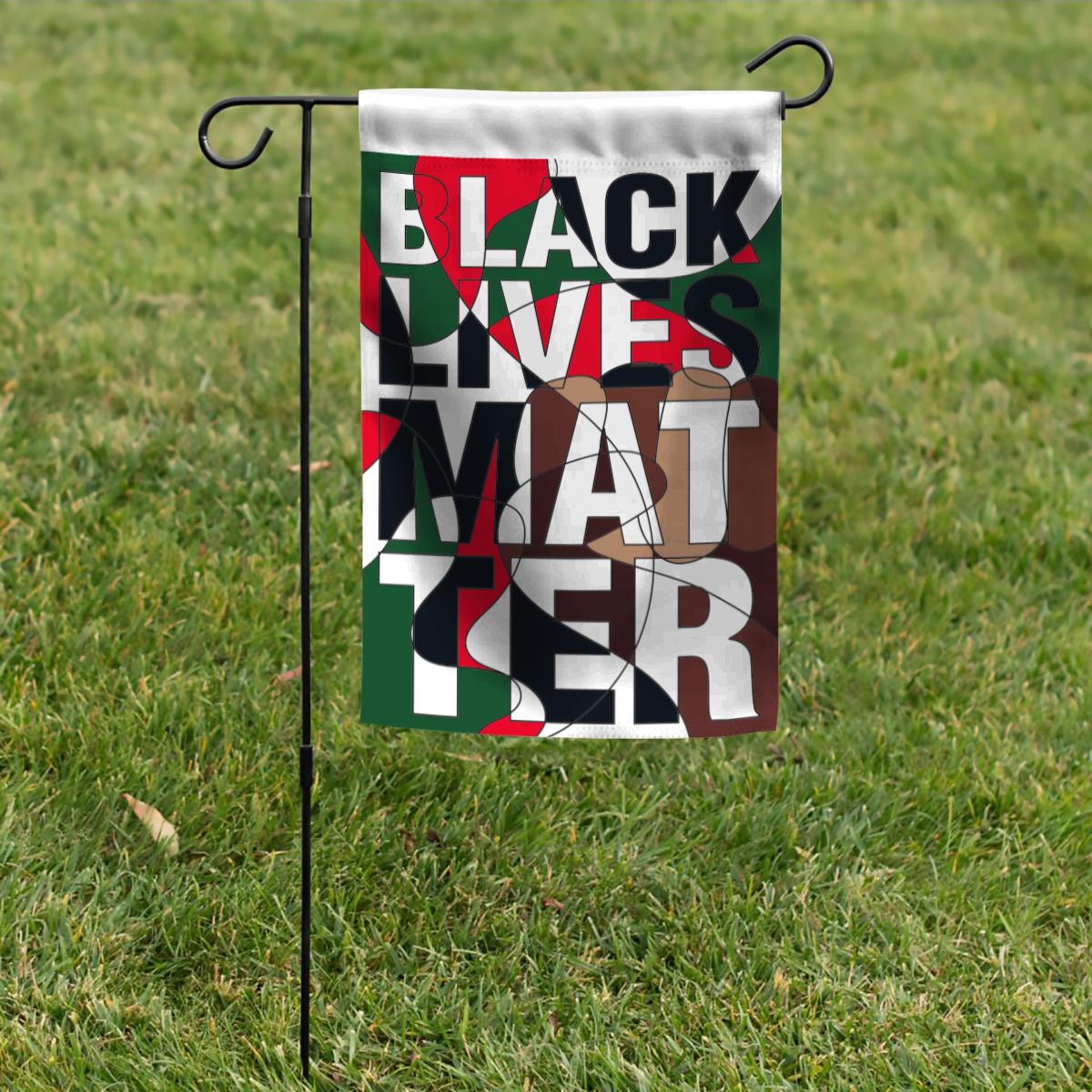 Black Lives Matter Mosaic Garden Flag