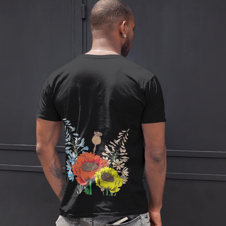 Black Lives Matter Flower T-Shirt