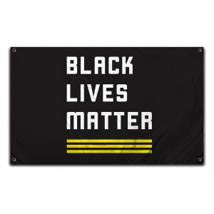 Official Black Lives Matter Logo Flag