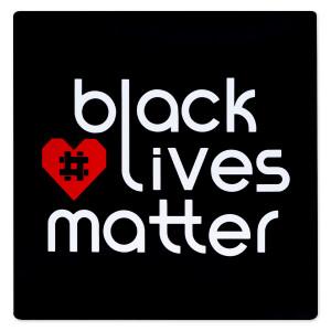 """BLM Hashtag Heart Magnet 5"""" x 5"""""""