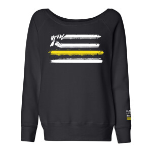 Flag Logo Relaxed Wide Neck Sweatshirt