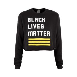 BLM Logo Cropped Crewneck Sweatshirt