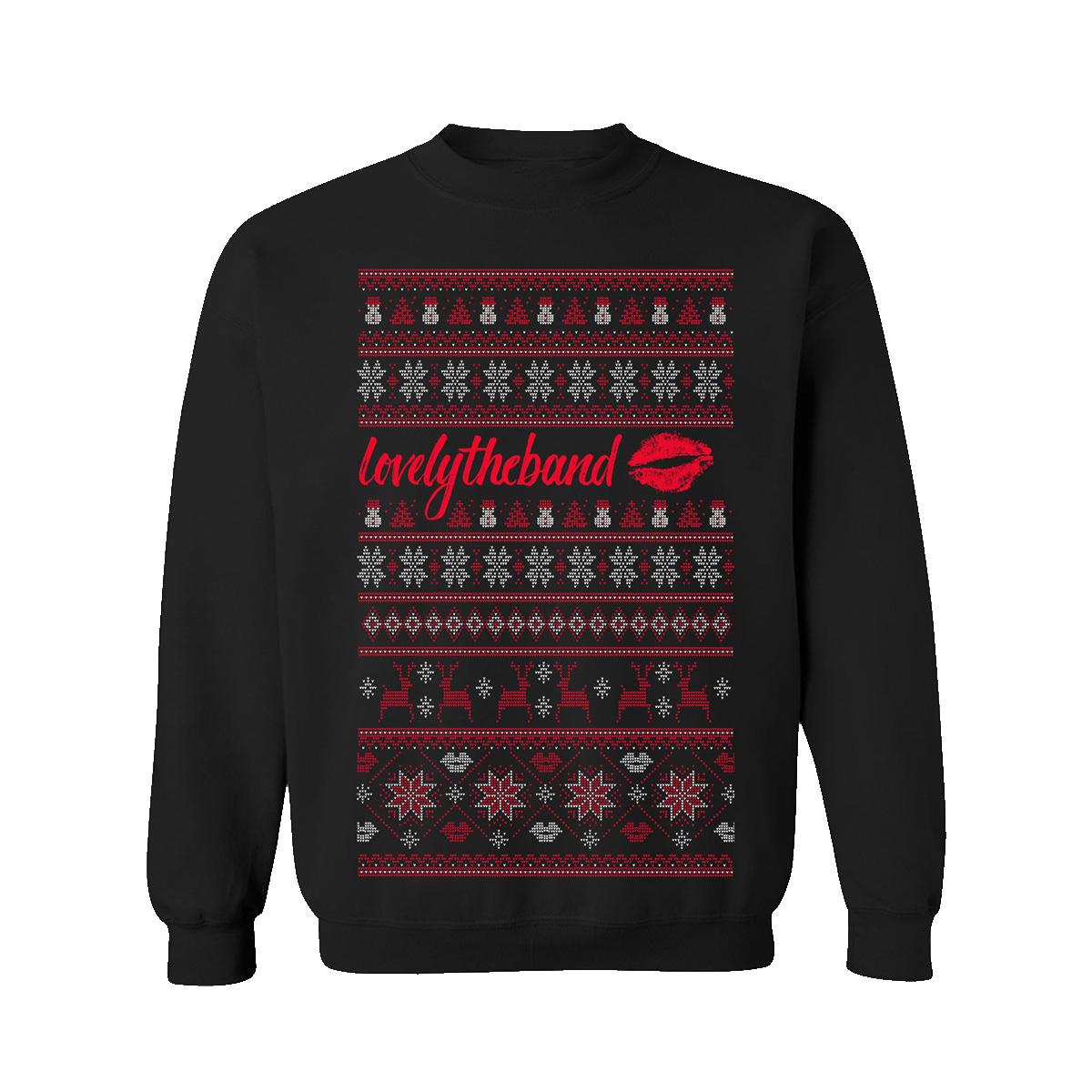holiday crewneck sweater