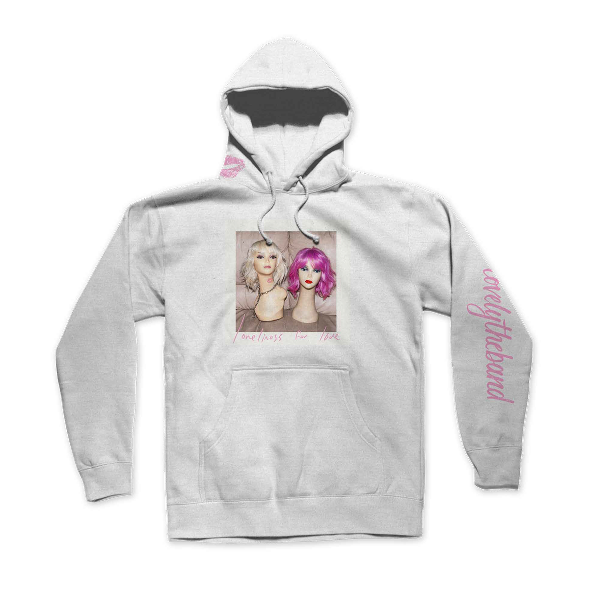 loneliness for love white hoodie & sweatpants