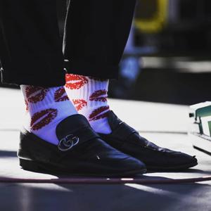 Lips Socks - White