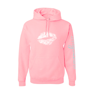 lovelytheband lips pastel pink hoodie