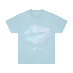 foil lips Blue T-Shirt