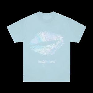 foil lips Blue T-Shirt