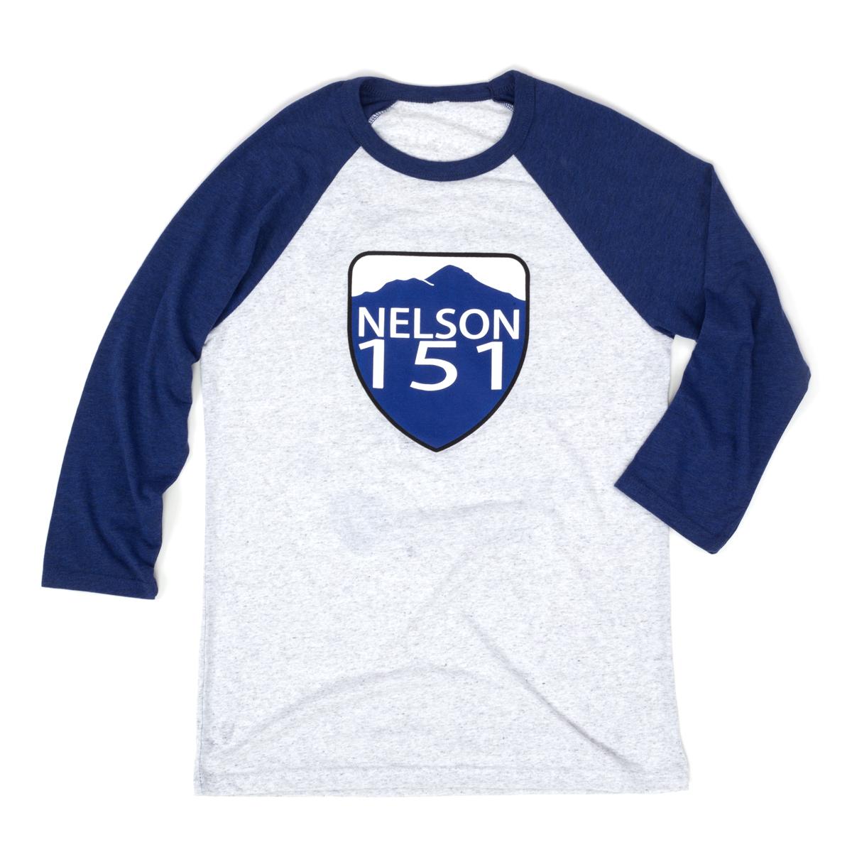 Nelson 151 3/4 Sleeve Baseball Tee