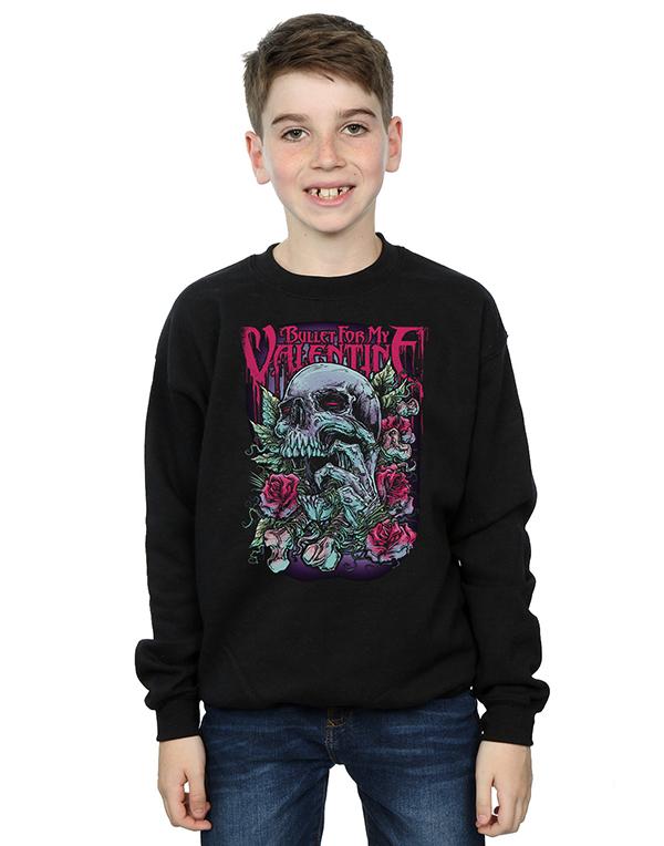 Bullet For My Valentine Boys Red Eye Skull Sweatshirt Shop The
