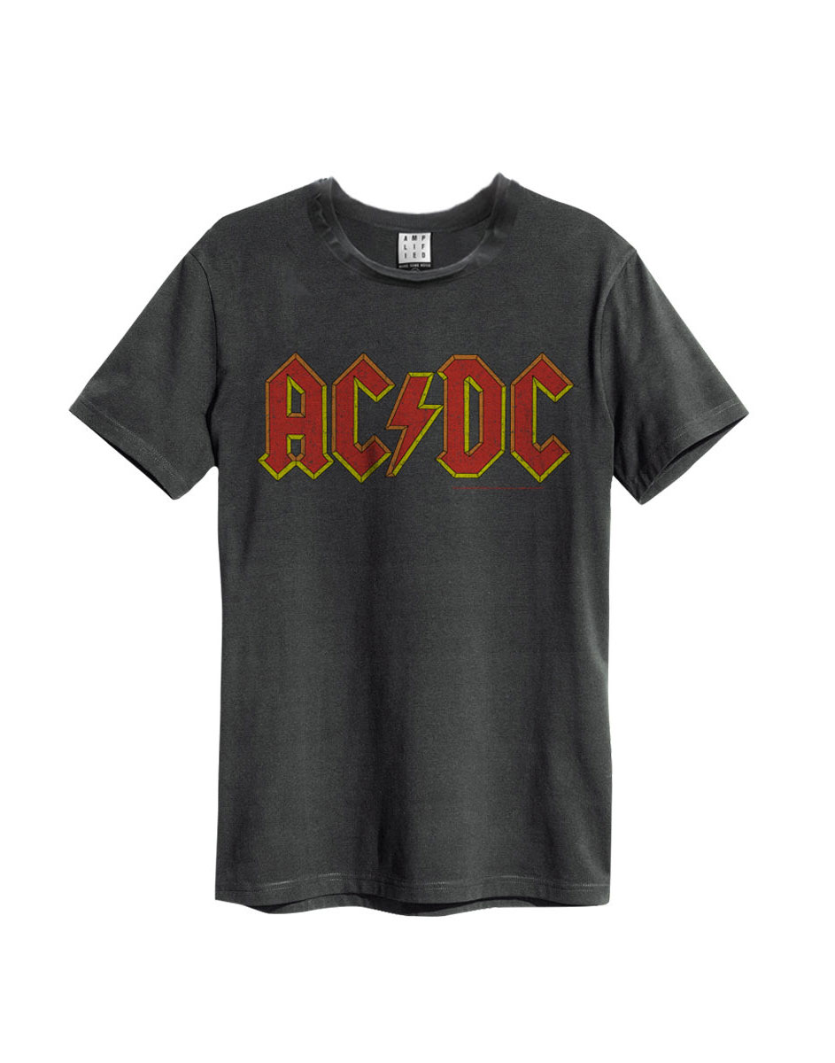 Official Amplified ACDC Logo Men's Vintage T-Shirt