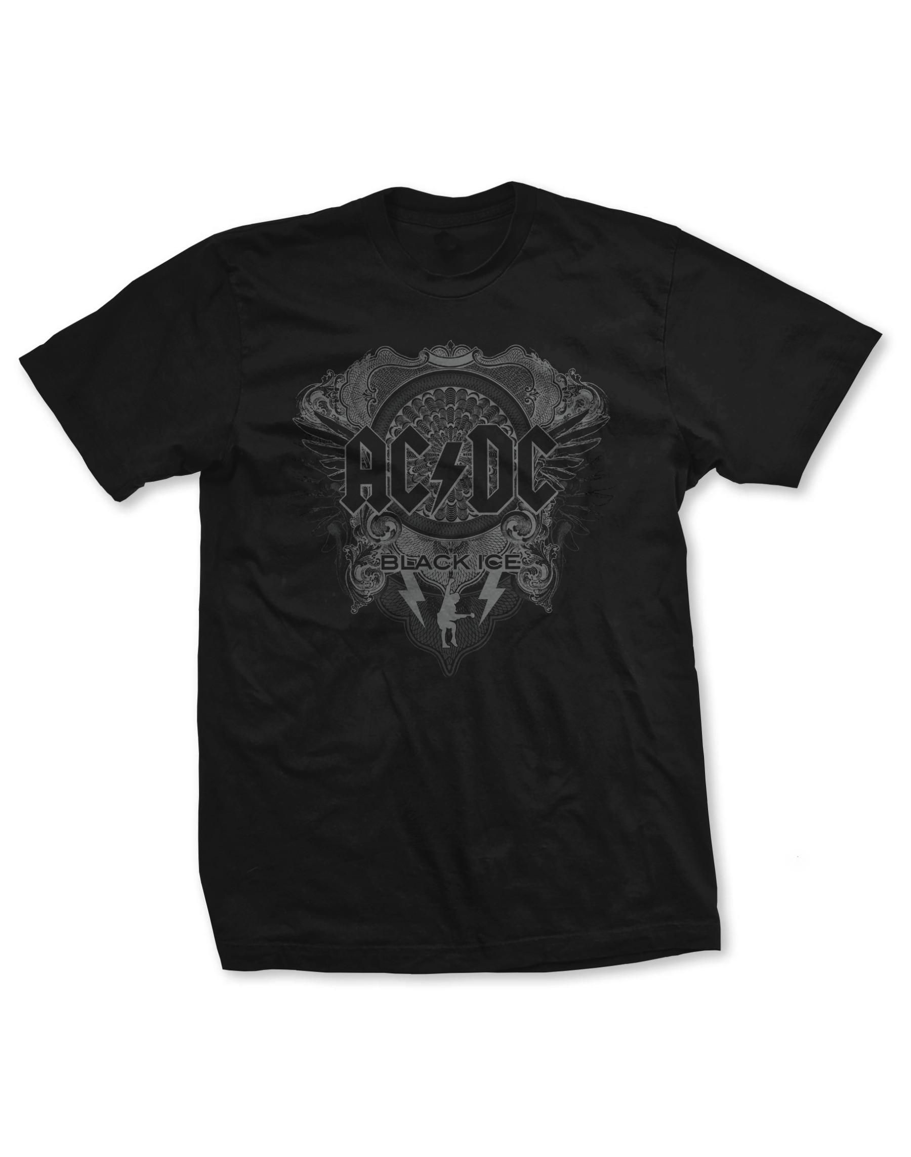 AC/DC Men's Black Ice T-Shirt