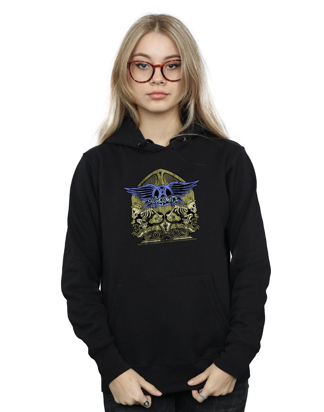 Aerosmith Women's Guitar Skeletons Hoodie