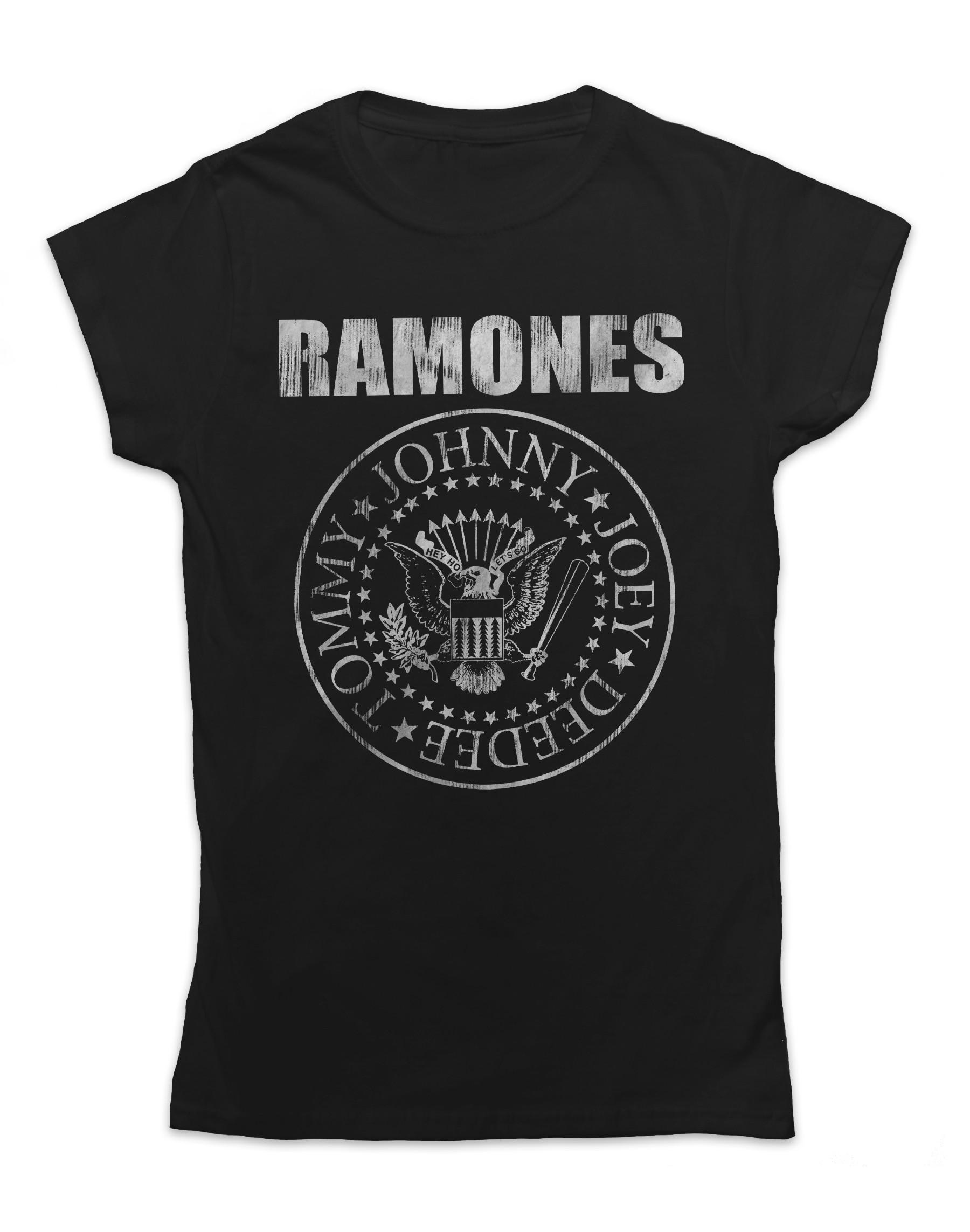 Ramones Women's Distressed Seal T-Shirt