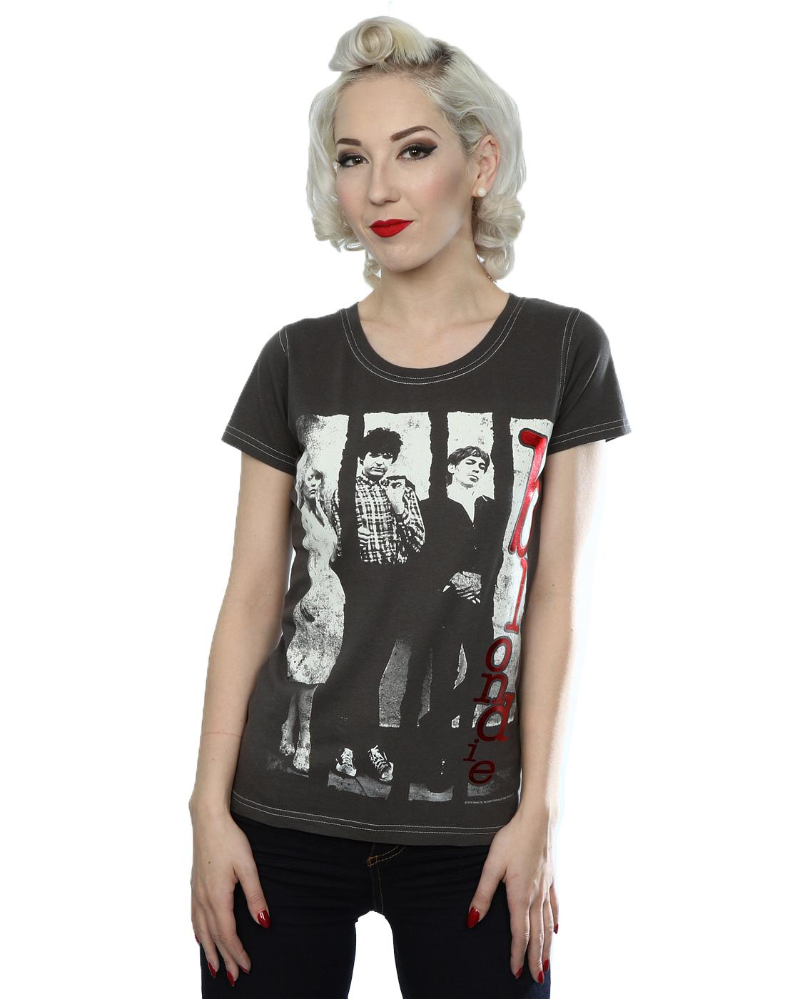 Aftershow Women's Blondie Metallic Red Text T-Shirt