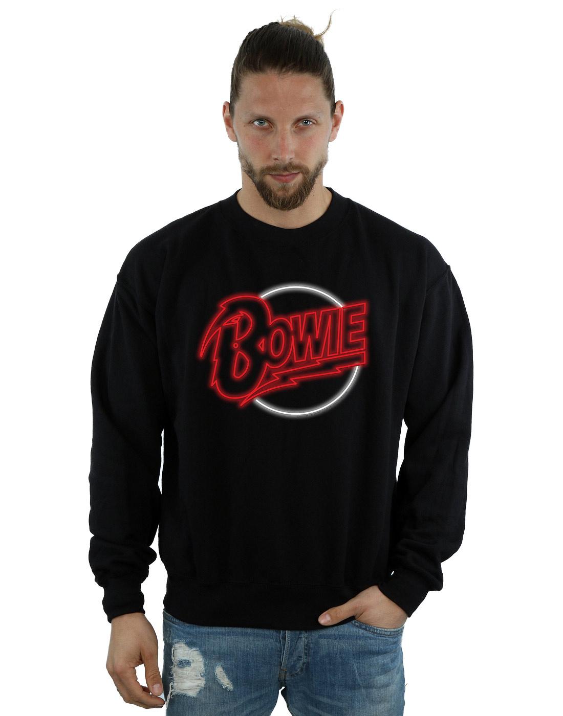 David Bowie Men's Neon Logo Sweatshirt