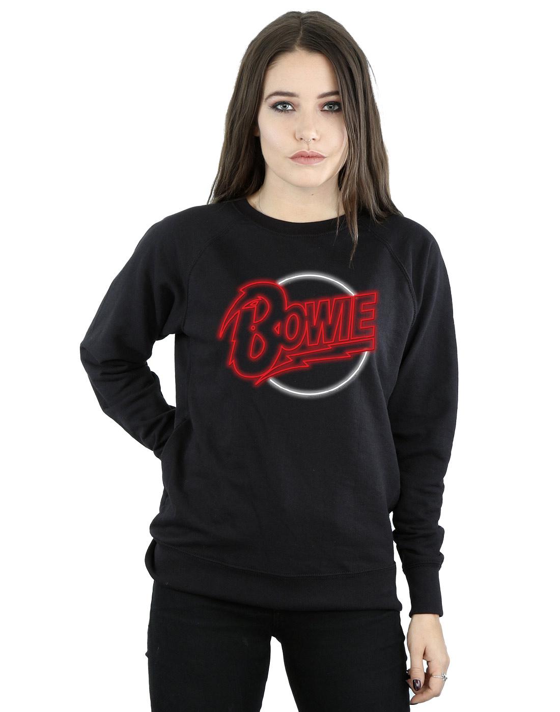 David Bowie Women's Neon Logo Sweatshirt