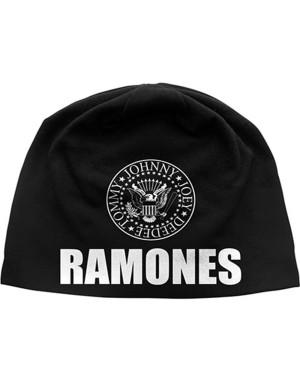 Ramones Beanie Hat: Classic Seal (Discharge Print)