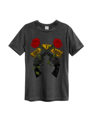 Official Amplified Guns N Roses Shooting Roses Men's Vintage T-Shirt