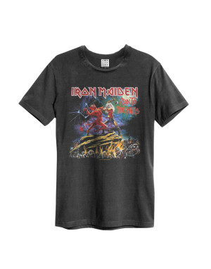 Official Amplified Iron Maiden Run to the Hills Men's Vintage T-Shirt