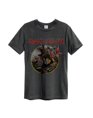 Official Amplified Iron Maiden Trooper Men's Vintage T-Shirt