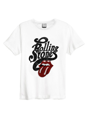 Official Amplified Rolling Stones Licked Men's Vintage T-Shirt
