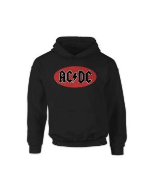 AC/DC Girls Red Circle Logo Hoodie