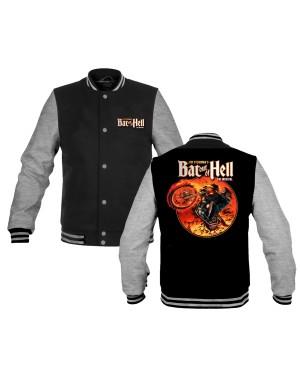 Bat Out Of Hell Men's Musical Biker Back Varsity Jacket