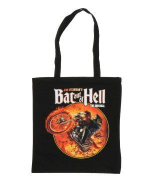 Bat Out Of Hell Musical Biker Circle Tote Bag
