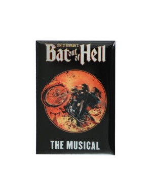 Bat Out Of Hell Biker Circle Fridge Magnet