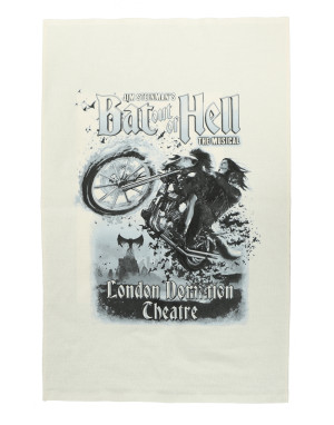 Bat Out Of Hell Biker Mono Tea Towel