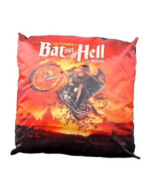 Bat Out Of Hell Biker Art Pillow