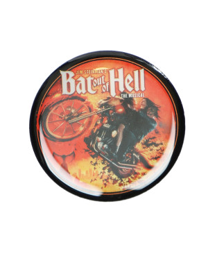 Bat Out Of Hell Biker Art Button Badge