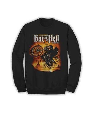 Bat Out Of Hell Men's Biker Art Sweatshirt