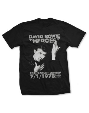 David Bowie Men's Earls Court Heroes T-Shirt