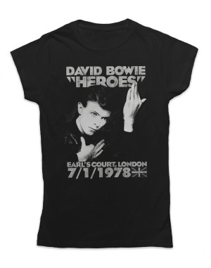 David Bowie Women's Earls Court Heroes T-Shirt