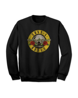 Guns N Roses Men's Bullet Logo Sweatshirt