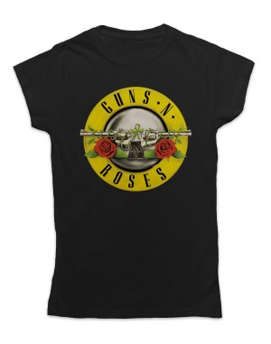 Guns N Roses Women's Bullet Logo T-Shirt