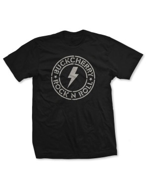 Buckcherry Men's Rock N Roll Bolt Circle T-Shirt