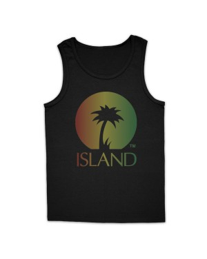 Island Records Men's Distressed Logo Vest