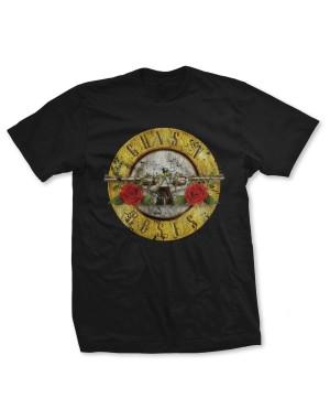 Guns N Roses Men's Vintage Bullet Logo T-Shirt